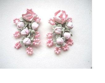 Pink Earrings, Sakura, Cherry Blossom, Flower Earrings, Dangle Earrings, Handmade Earrings, Floral Jewelry, Gift For Her
