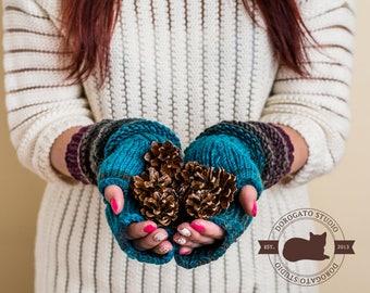 Extra Long Fingerless Gloves, Merino Wool Gloves, Christmas Gift For Her, Winter Knitted Gloves, Long Arm Warmers, Soft Gloves For Women