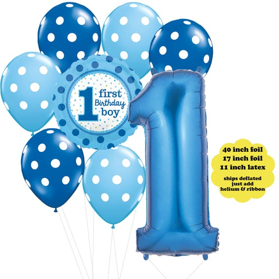 Boys First Birthday Party Decorations Boy Balloon Bouquet Blue 1st