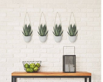 Ceramic Hanging Planters (4 Pack)