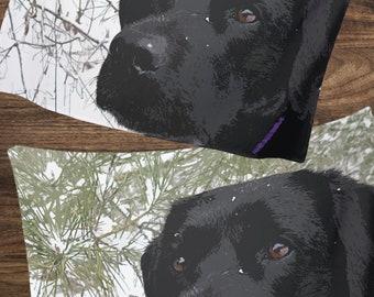 Black Lab Blanket 13SPFB - Labrador Blanket - Duck Dog - Labrador Decor - Hunting Dog - Sherpa Dog Blanket - Black Lab Gifts - Black Lab Art