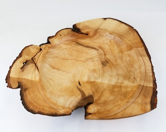 Live edge bowl from maple burl