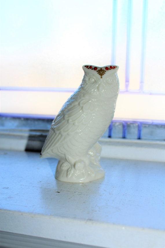 Lenox Owl Figurine Jewel Collection Vintage Porcelain