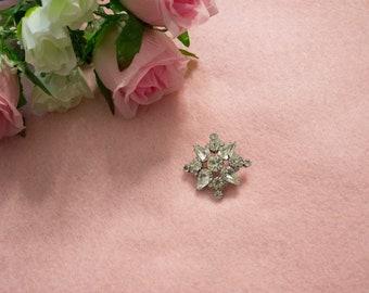 1950s Vintage Star Shaped Diamond Brooch