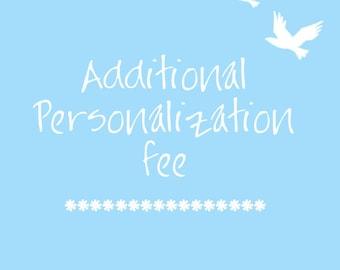 Additional Personalization
