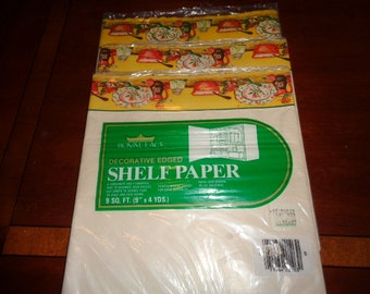 Retro kitschThree Royal Lace Decorative Edged Shelf Paper 9 sq ft  each package Made in the USA