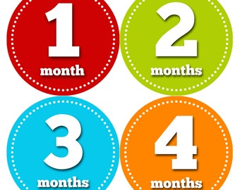 Baby Month Stickers, Baby Boy Gift, Milestone Stickers, Monthly Sticker, Monthly Baby Boy Stickers, Baby Month Milestone Stickers 053