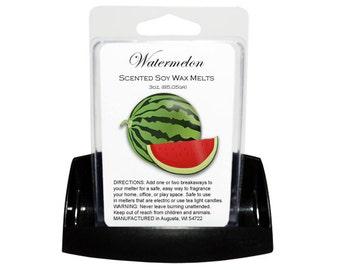 WATERMELON Melts - Wax Tarts - Soy Tarts - Candle Tarts - Melting Tart - Scented Tart - Tart Melt - Wax Melt - Clamshell - Dye Free