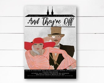 And They're Off to the Altar Invitation, Kentucky Derby Invitation, Bridal Shower Invitation, Couples Shower Invitation, DIY or Printed