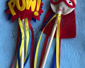 Handmade Super Hero Wands Pick a Party Pack 1-36