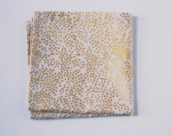 Champagne Gold and Pale Blush Pocket Square