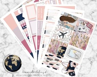 Wanderlust // Erin Condren Vertical Weekly Planner Kit - MATTE