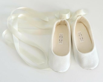 Toddler Girl Shoes Baby Girl Shoes Soft Soled Shoes Wedding Shoes Cream Flower Girl Shoes Glitter Shoes Ivory Ballerina Shoes - Eloise