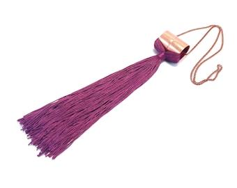 Big Tassel Necklace, Statement Fringe Necklace, Oversize Fringe Necklace, Statement Tassel Necklace, Textile Jewelry