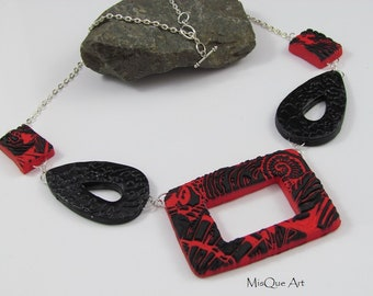 Necklace Black-Red