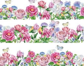 Rose Blossom Washi Tape (35mm X 10M)