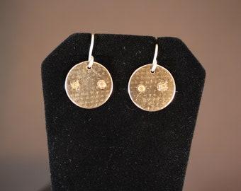 Textured Sterling Silver Earrings (060818-024)