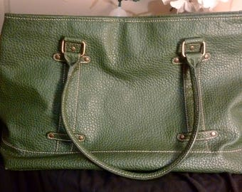 Green Estee Lauder Luggage Bag