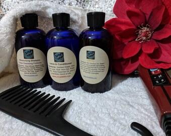 Shampoo, Triple Threat Shampoo, Conditioner, Hair Oil - Gift Set, Travel Kit 8 oz