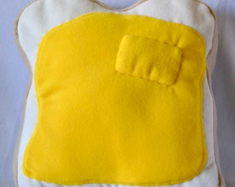 Butter on toast stuffed pillow