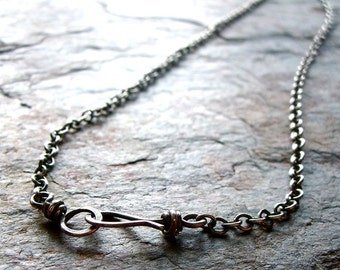 Sterling Silver Chain with Handmade Clasp
