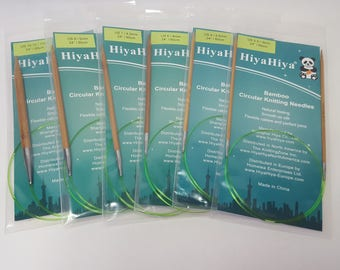 "HiyaHiya Bamboo Fixed Circular needles, 2-10 mm, 24"", 60cm"