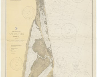 Cape Canaveral Florida Map 1929