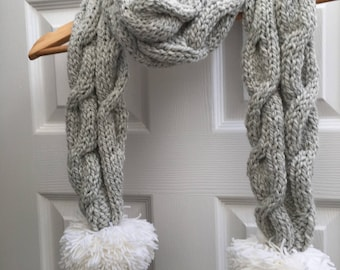 Cable Knit Scarf #3