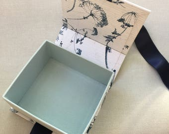 Cardboard box, Handmade gift box, Present box, Box with lid, Wedding box, Jewelry display box, Customizable box, Blue box