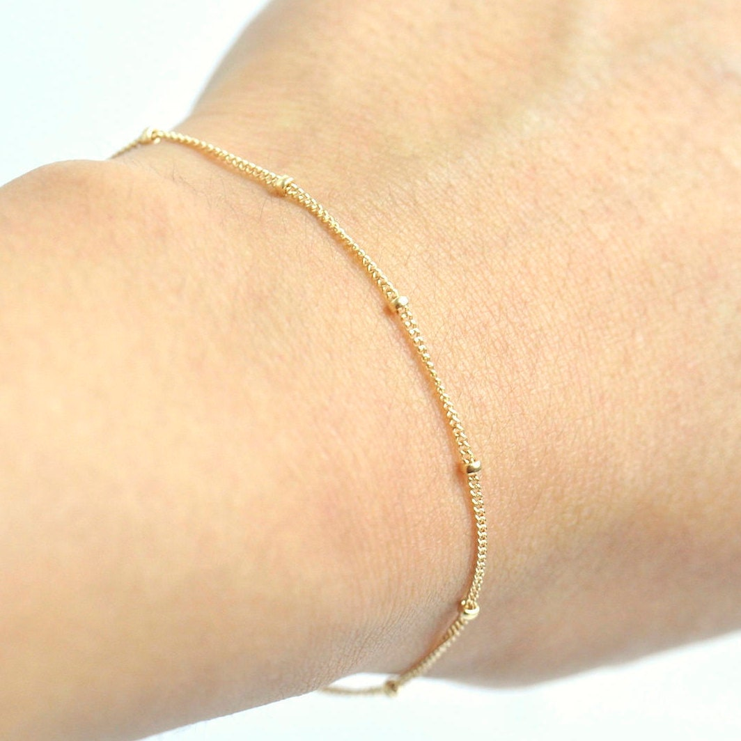 balls dainty rose product tiny gold necklace fill beaded fullxfull silver satellite layering bracelet chain sterling il