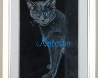 Custom Cat Painting, paint from photo, pet gift, pet art, pet portrait, pet painting, cat painting, cat art, cat lover gift, cat portrait