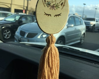 Unicorn rear view mirror charm