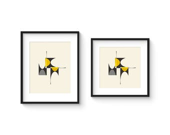 CUBIST no.3 - Giclee Print - 8x10 or 8x8 Format - Mid Century Modern Cubist Modernist Abstract