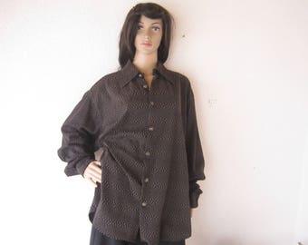True vintage 80s Blouse blouse shirt oversize XL