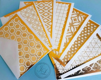 Gold Foil Greeting Card Collection