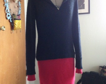 Two toned Cashmere Sweater Dress, size small/medium