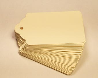 Die Cut, Hang Tags, Cream Blank Tags, Boutique Tag, Gift Tag, Retail Tag, 110 lb Card Stock CP-1204