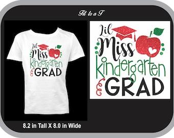 Lil Miss Kindergarten Grad T-Shirt, Kindergarten Graduation Shirt, Girls Kindergarten Graduation Shirt, Kindergarten Graduation Gift
