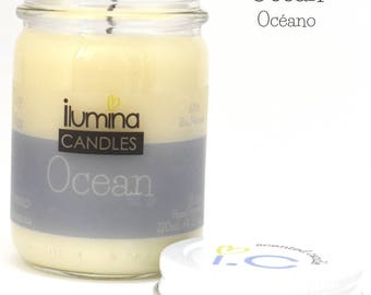 Ocean Ilumina Candles soy wax, scented candle, interior decoration, aromatherapy,  fresh aroma candle