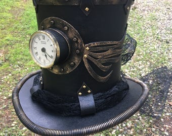 Time Travelers Wife Steampunk Top Hat