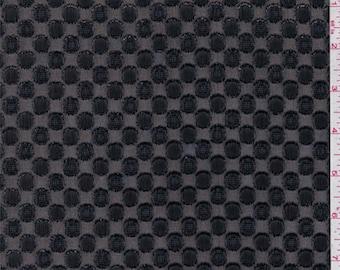 Black Dot Chiffon, Fabric By The Yard
