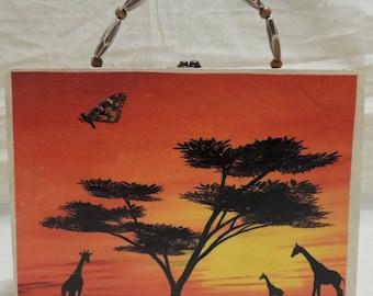 Giraffe/Cigar box/Purse/Hand bag/Stash box