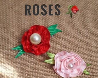 Rose Ribbon Barrette