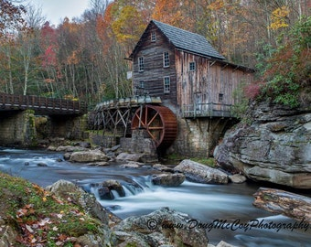 Glade Creek Grist Mill in Babcock State Park, WV #7427