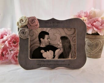 Parents of the Wedding gift for mom and dad personalized frame, All that we are and all that we hope to be we owe to our loving parents