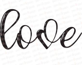 Love SVG - Love Heart SVG - Valentines SVG - Valentines Day Svg - Love Clipart - Love Cut File - Love Svg File - Love Dxf - Heart Vector