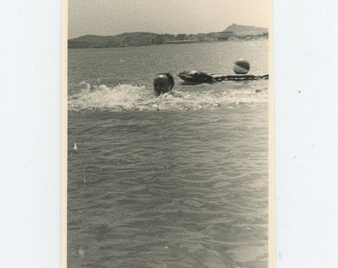 Vintage Snapshot Photo: Swim [81639]