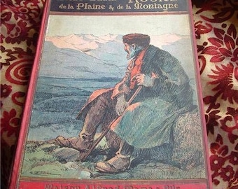 Rare Antique French René Bazin Book-Récits de La Pleine,perfect Vintage Display!