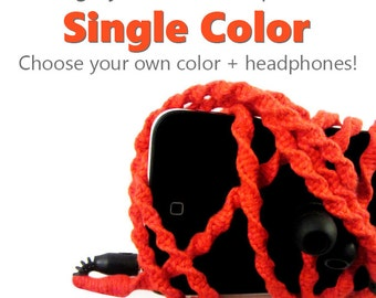 Pick Your Own Custom Color + Earbuds   Men's Wrapped Tangle Free Earphones   Apple iPhone 8 Earpods, Android, Skullcandy, Sony Headphones
