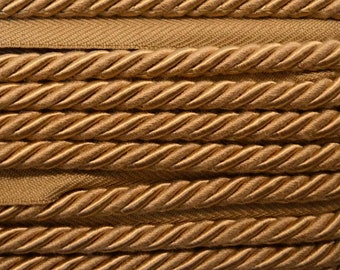 "1/4"" Tan Braided BC10008 28 Barley Colo Belagio Trim"